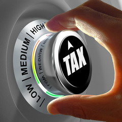 Concept of a button adjusting and optimizing tax amount.