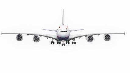 Passagierflugzeug, Jumbo jet, freigestellt