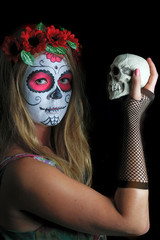 Halloween make up mexican mask