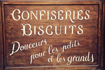 enseigne vintage confiserie biscuits