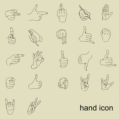 movement of the hands. gesture. hands. vector