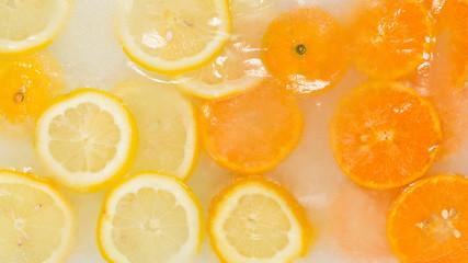 natural citrus ice cream