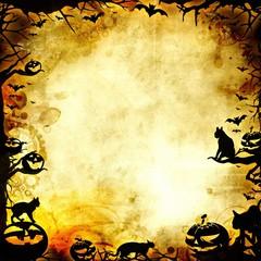 vintage halloween frame background or texture