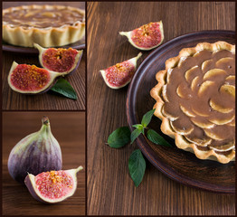 tart with figs and caramel
