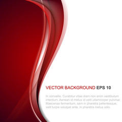 Abstract vector background in red color with wave