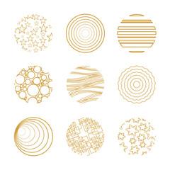 9 goldene Kreise
