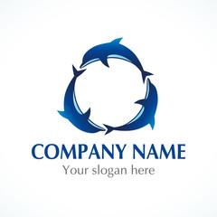 Three dolphins logo