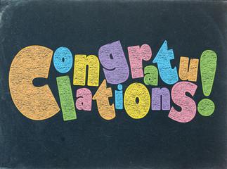 """CONGRATULATIONS"" (card well done achievement)"