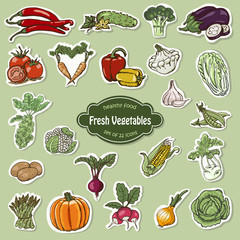 Vector collection of icons vegetables