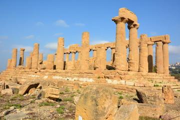 Italie, Sicile, Agrigente, Temple d'Héra, vallée des temples