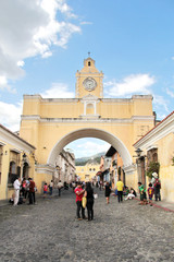 Antigua, Guatemala: Arch of Santa Catalina, an icon of the city
