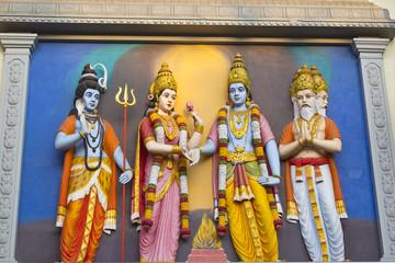 Wedding ceremony of Shri Krishna and Rukmini