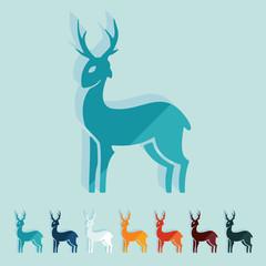 Flat design: deer