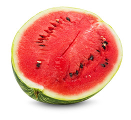 fresh juicy watermelon on the white background