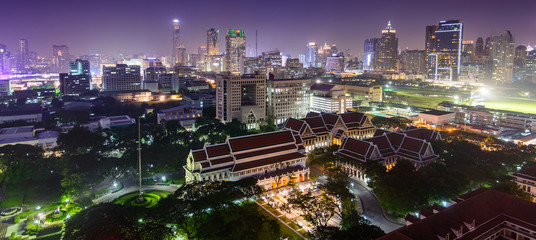 Night view of Chulalongkorn University in Bangkok, Thailand