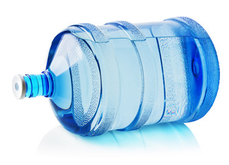 Big bottle of water isolated on the white background