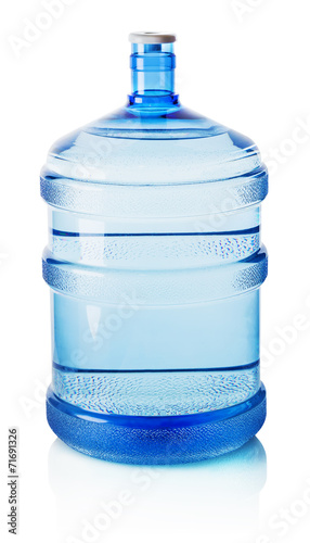 Big bottle of water isolated on the white background - 71691326
