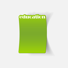 realistic design element: education