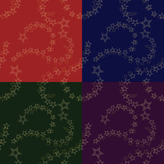 Christmas Star Seamless Pattern