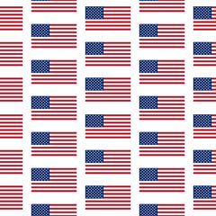 Flag of the United States seamless pattern