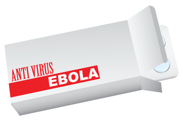 Box with anti virus ebola