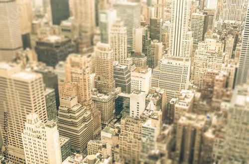 Skyscrapers in Manhattan district of New York City