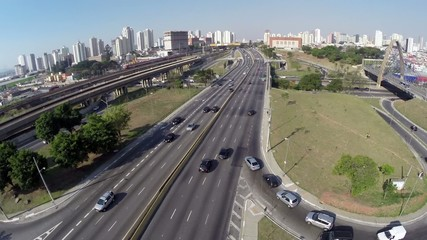"The famous ""Radial Leste"" in Sao Paulo, Brazil"