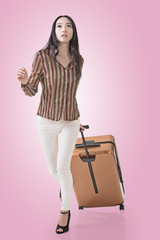traveling Asian woman