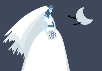 Halloween Bride Illustration
