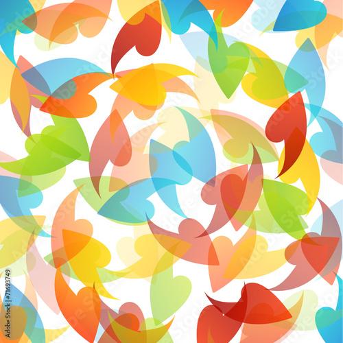 Deurstickers Geometrische dieren rainbow colored background with leaves