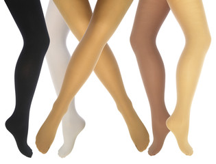 Women's legs in various tights