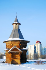 Wooden architecture of of Kolomenskoye park. Moscow, Russia.