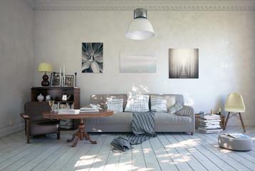 Sofa in romantischen Ambiente