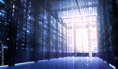 Leinwanddruck Bild Servers