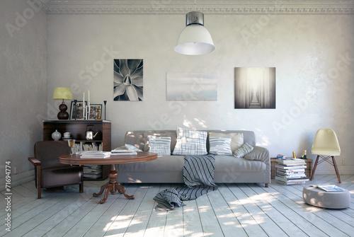 Sofa in romantischen Ambiente - 71694774