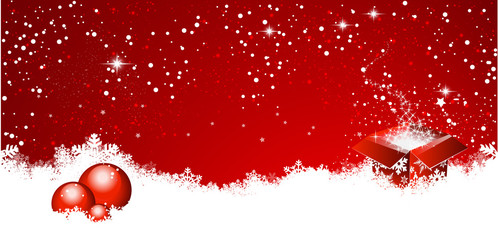gift balls christmas background