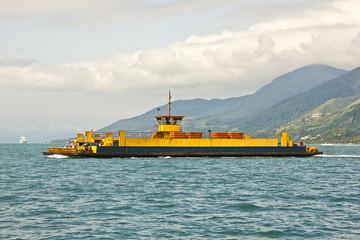 Ferryboat crossing islands