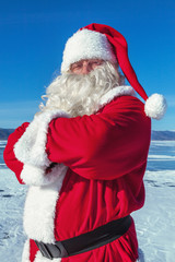 Portrait of Santa Claus outdoors