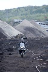 Man Driving Adventure Motorcycle