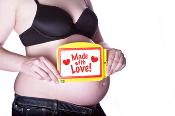 Pregnant Sign With Love