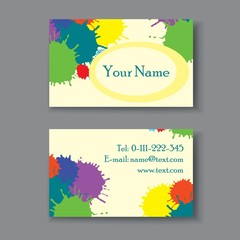 Beautiful floral business card template