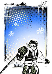 skiing poster background