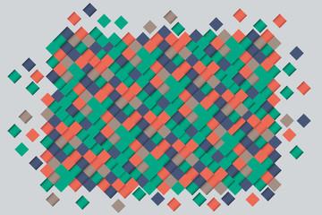 Pattern of rhombuses