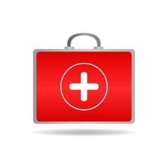 Medical case icon vector