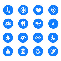 Collection icons medical and health
