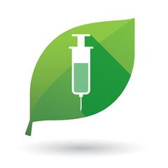 leaf icon with a syringe