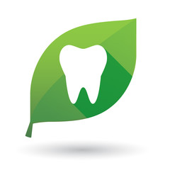 leaf icon with a tooth