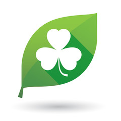leaf icon with a clover