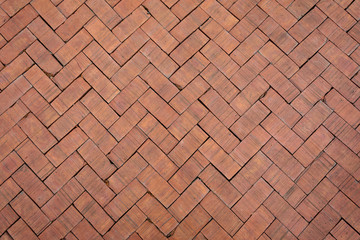 Red brick paving stones