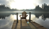 Chair on Dock at Alice Lake in Late Afternoon poster